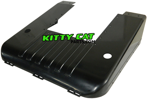 we stock genuine arctic cat kitty cat belly pans for all 1972-1999 kitty cat  snowmobiles  this is the plastic body part that goes under the entire front  of